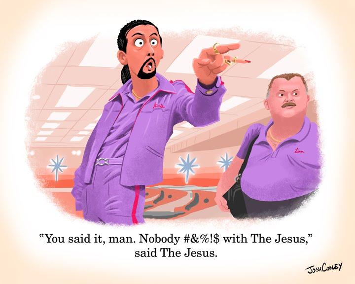 The Big Lebowski Bowling Jesus scene