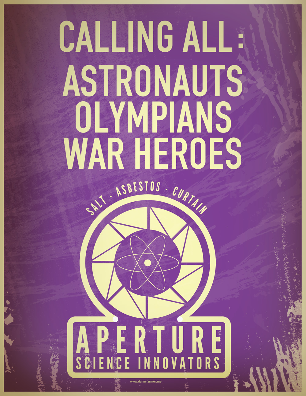 Calling all astronauts Olympians and war heroes Aperture Science