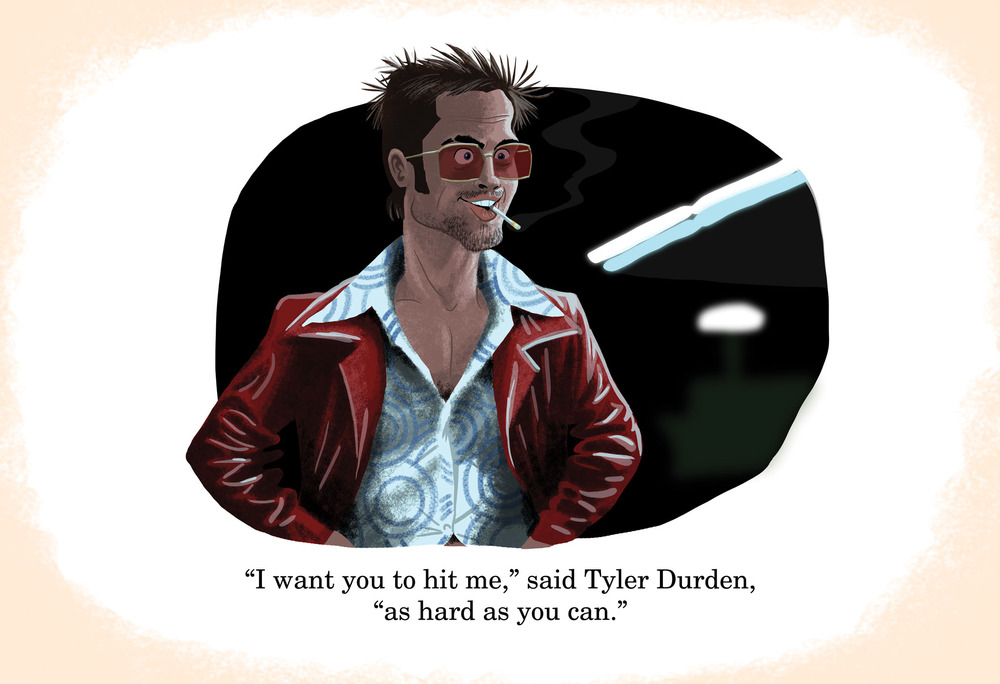 Pixar Fight Club's Tylur Durden Scene Hit me as hard as you can