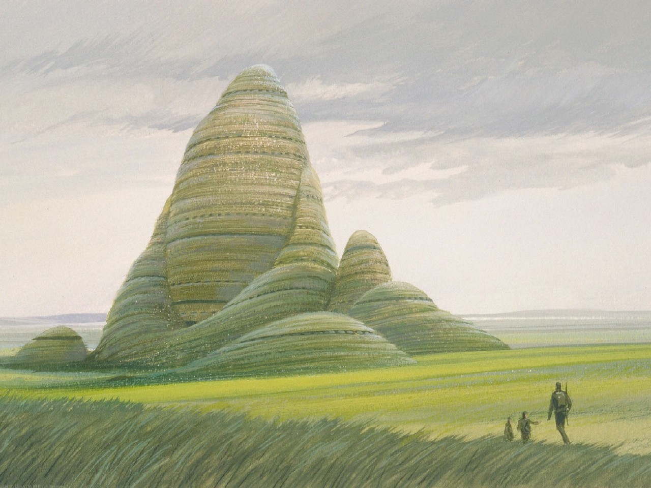 Early Pre-Production Art for Grassy Planet in ROTJ