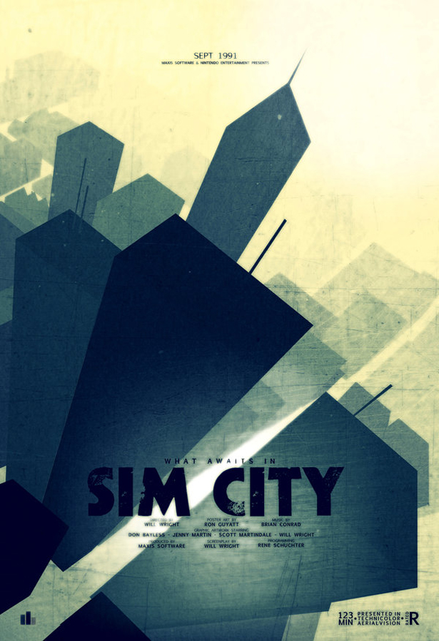 "Sim City poster ""What Awaits in"""