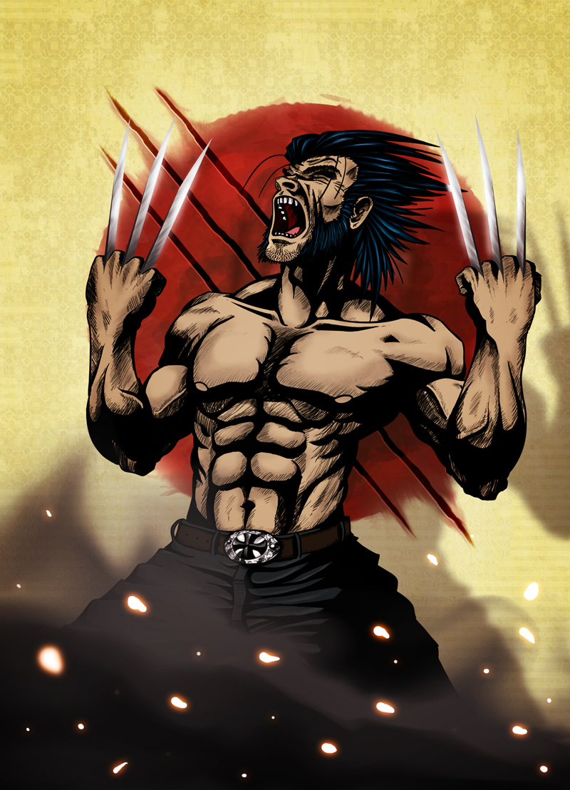 The Wolverine screaming at the sky