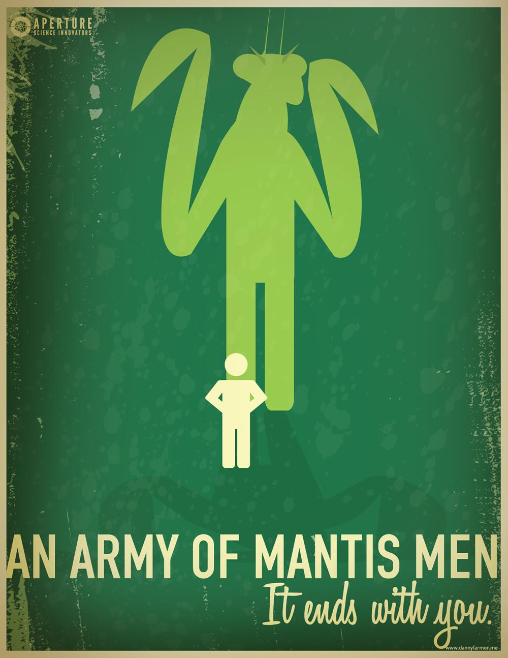 Portal 2 Army of Mantis Men