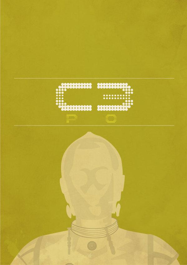 C3PO  minimalist