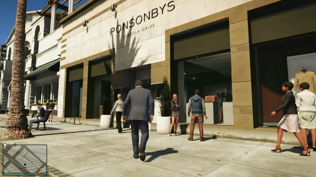 GTA V Ponsonbys clothing store
