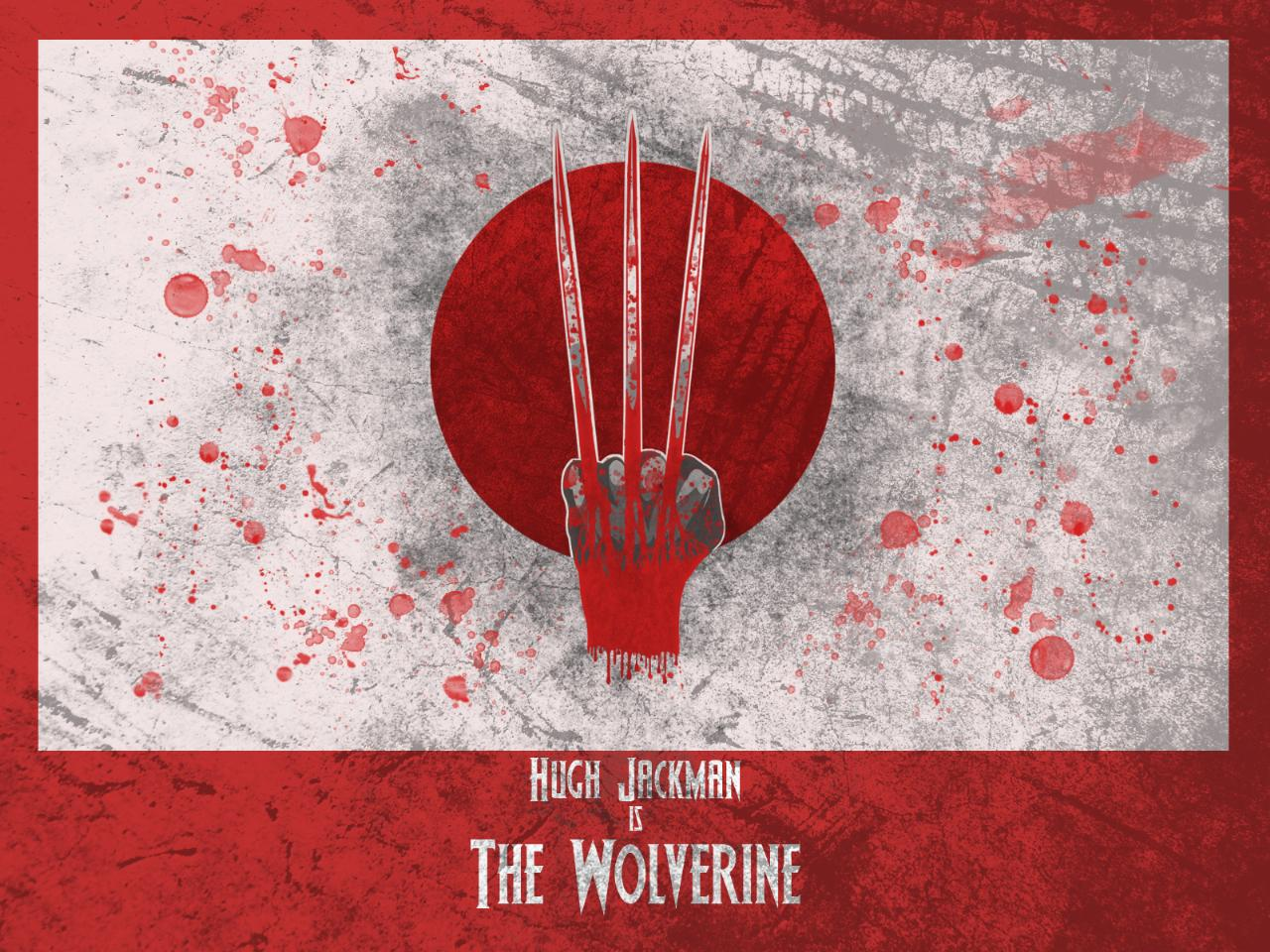 Minamilist wolverine claws and the Japanese flag