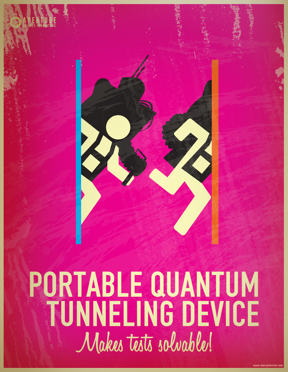 Portal 2 Portal Quantum tunneling Device makes tests solvable