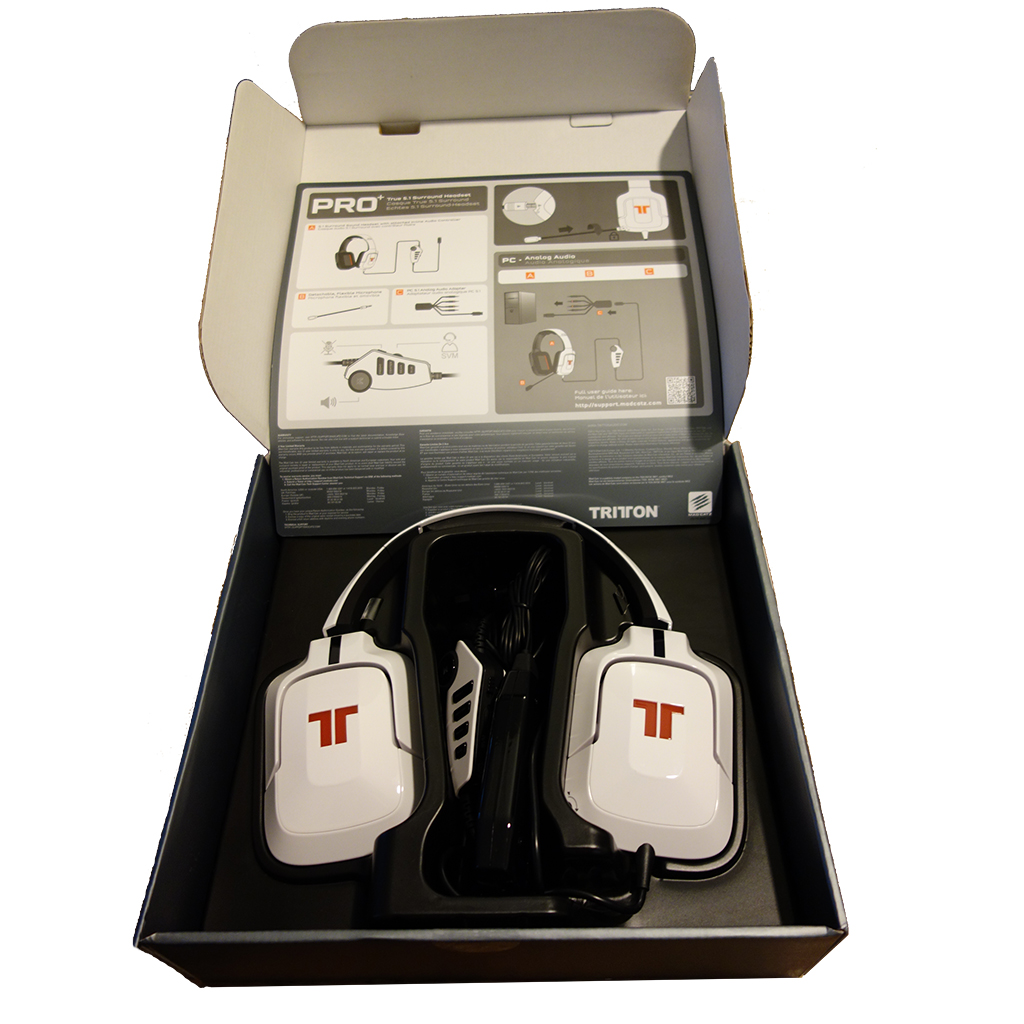Mad Catz Tritton Pro+ 5.1 Headphones for Windows and Mac in Box