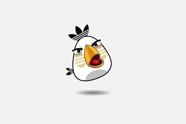 Adidas egg shooting Bird
