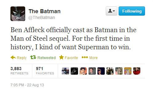 The Batman on Twitter