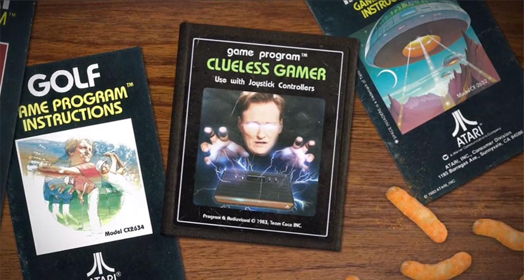 Conan O'Brien Gets Clueless with the Atari 2600 and E.T.