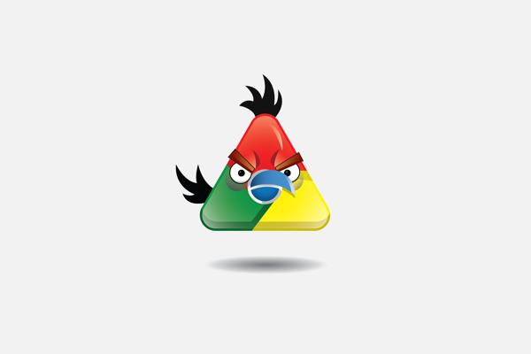 Google Chrome triangle speedy Bird