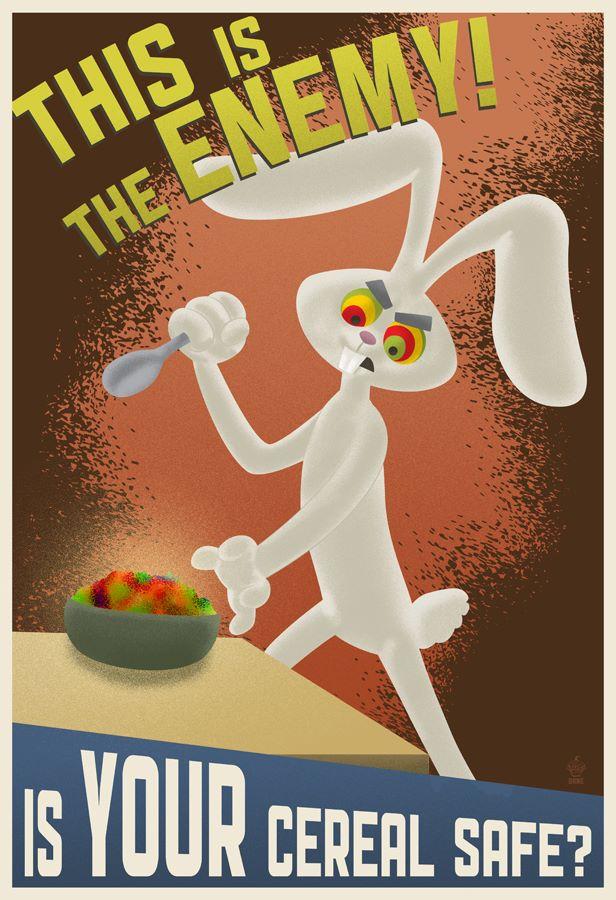 Trix are for kids propaganda poster
