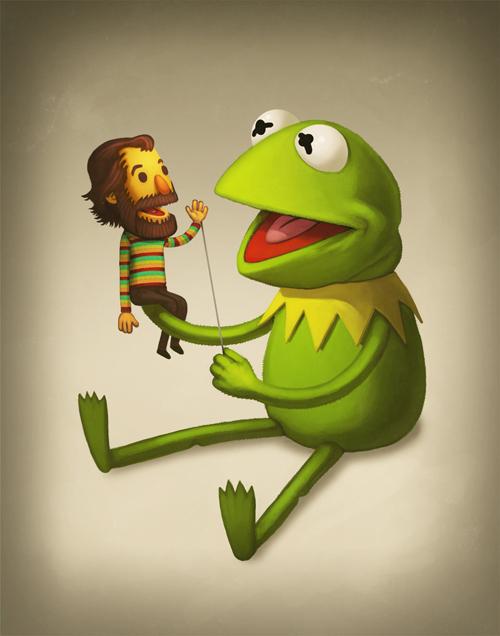Kermit & Jim, Mike Mitchell (Tumblr)