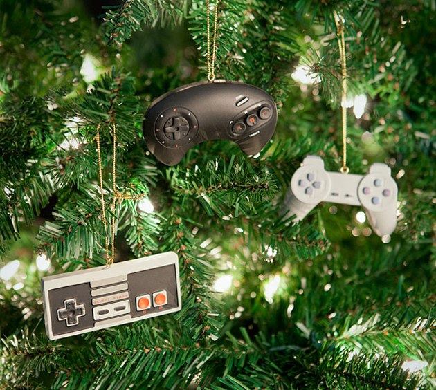 Geeky Holiday Decorations Classic Video Game Controller Ornament Set