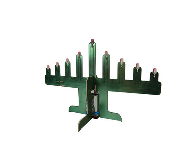 Geeky Holiday Decorations LED Motherboard Menorah