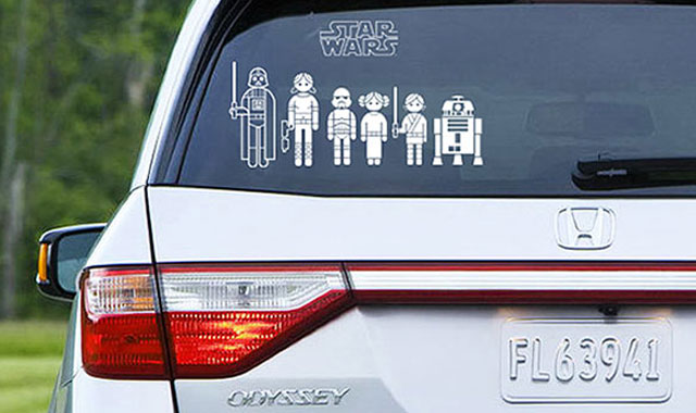 Stocking stuffers Star-Wars-Family-Car-Decals
