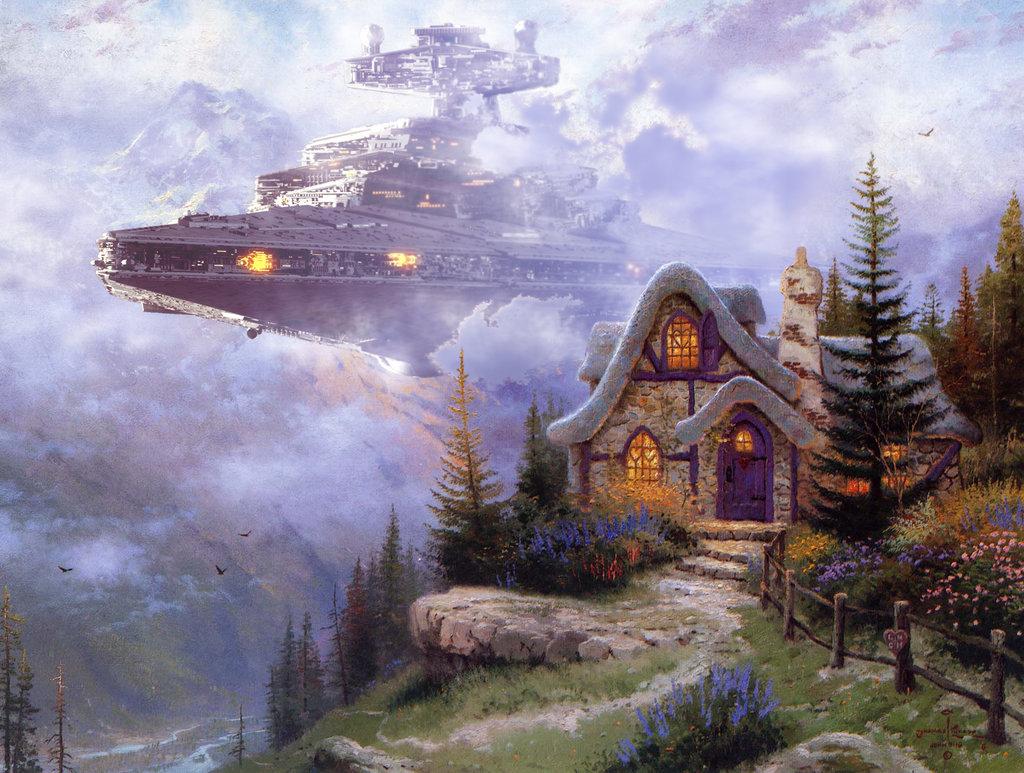 Star Wars and Kinkade Art: Star Destroyer