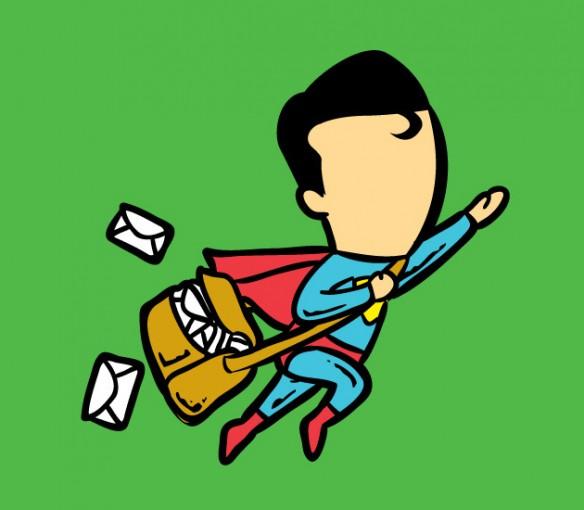 Superman postal worker