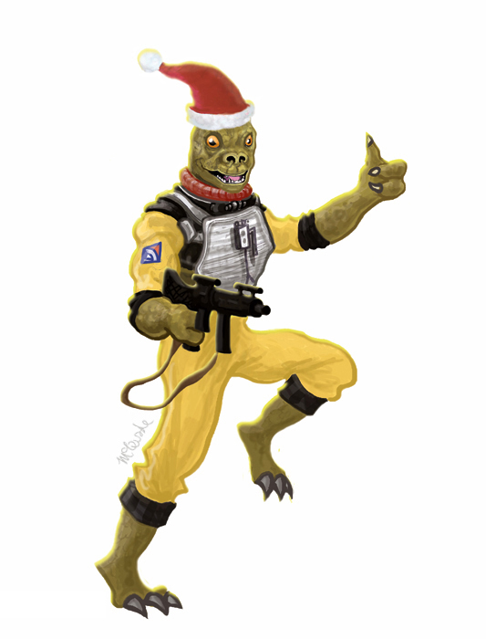Bossk Christmas Card Front
