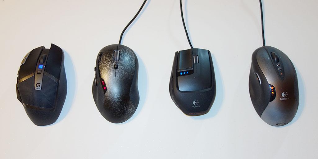 four Logitech Mouse