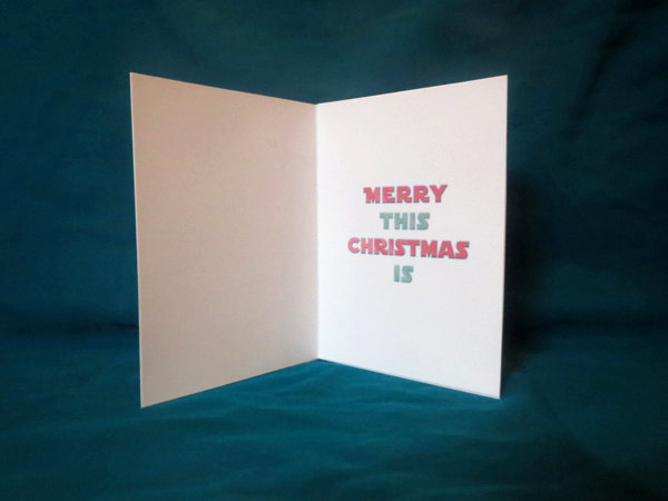 Yoda Christmas Card Inside