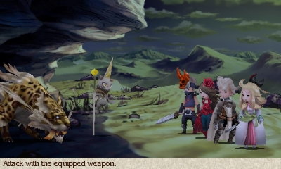 Bravely Default Gameplay