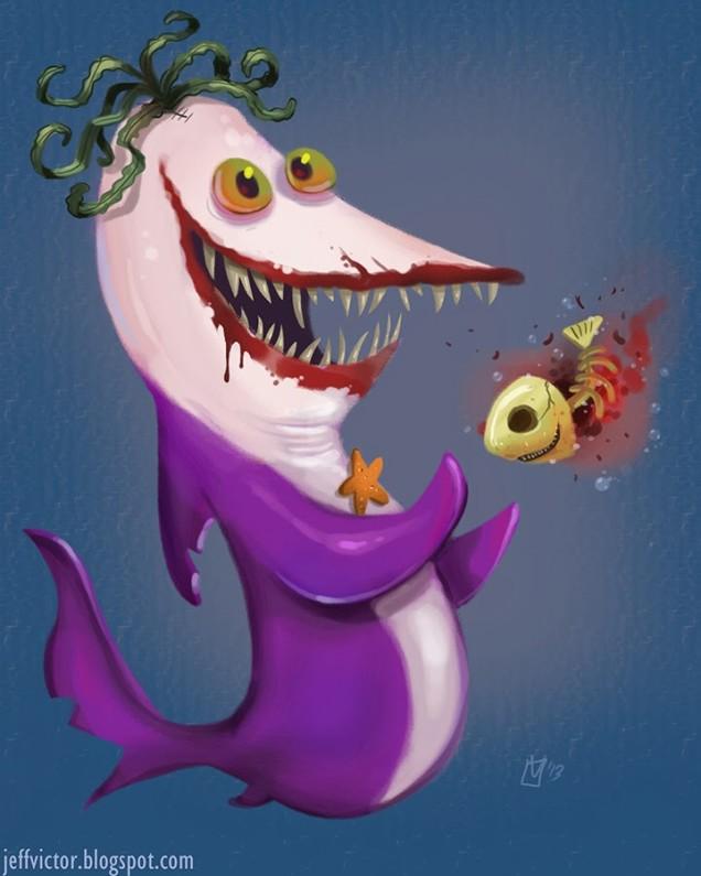 Batman Villain Joker Shark