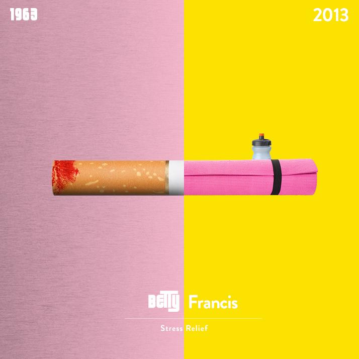Betty Francis smoking versus a yoga mat