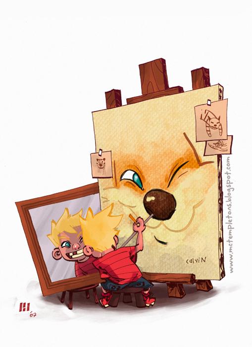 Calvin-Hobbes-painting