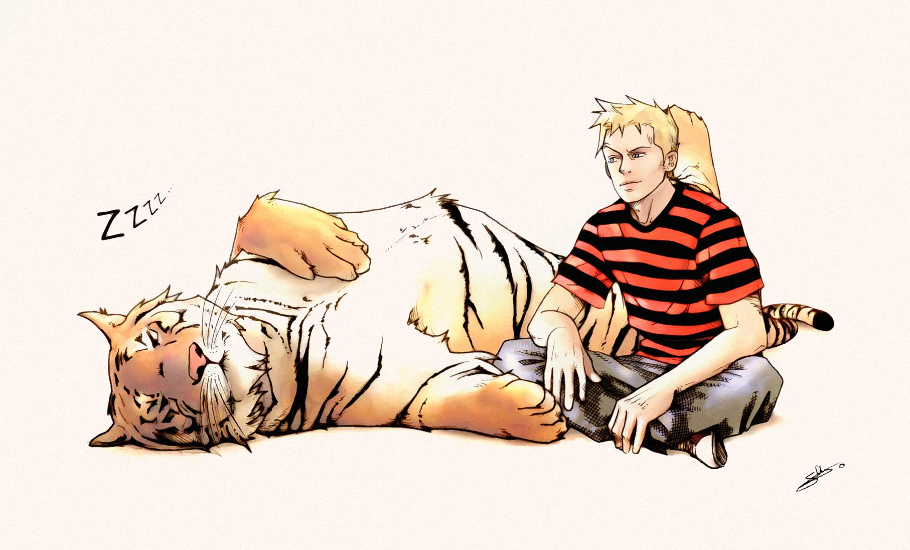 Calvin-Hobbes-relaxing