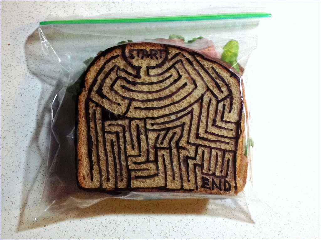 Sandwich Bag Art: A complex maze to solve