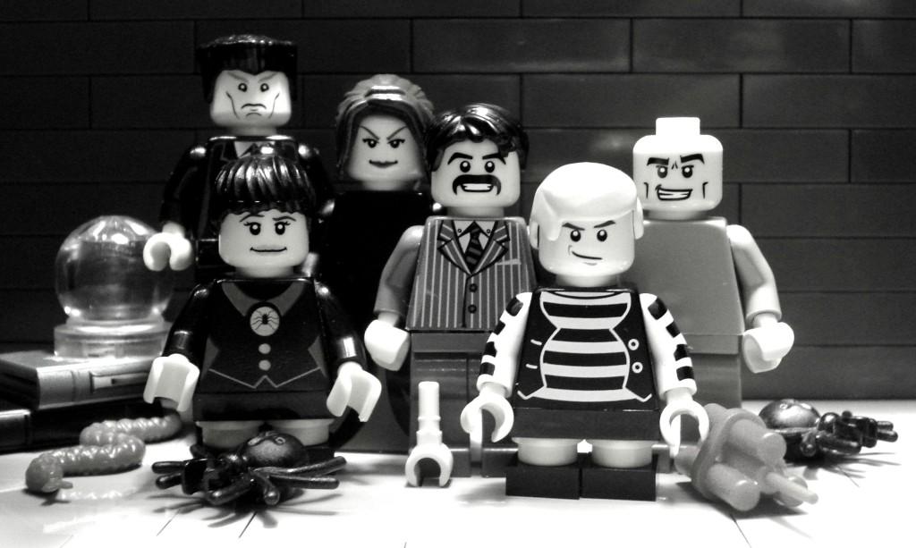 The Addams Family as LEGOs
