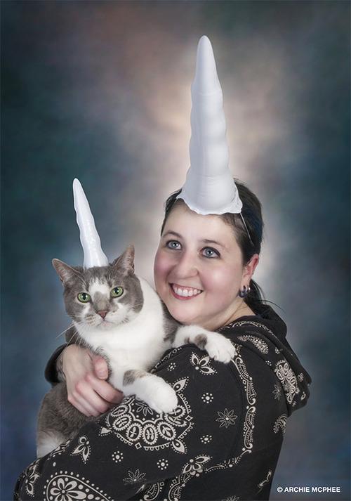 Cat Family Photo Unicorns