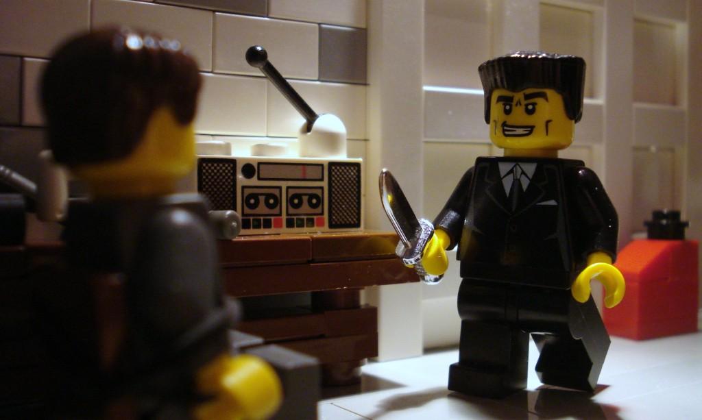 Reservoir Dogs ear cutting scene