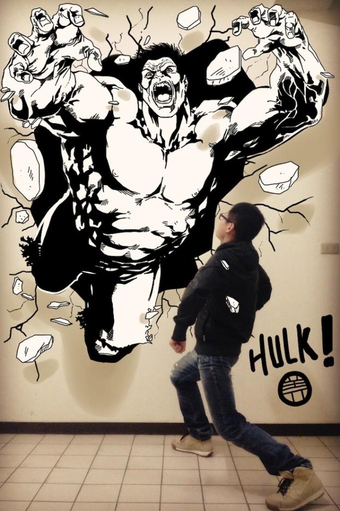 Hulk is going to smash that kid