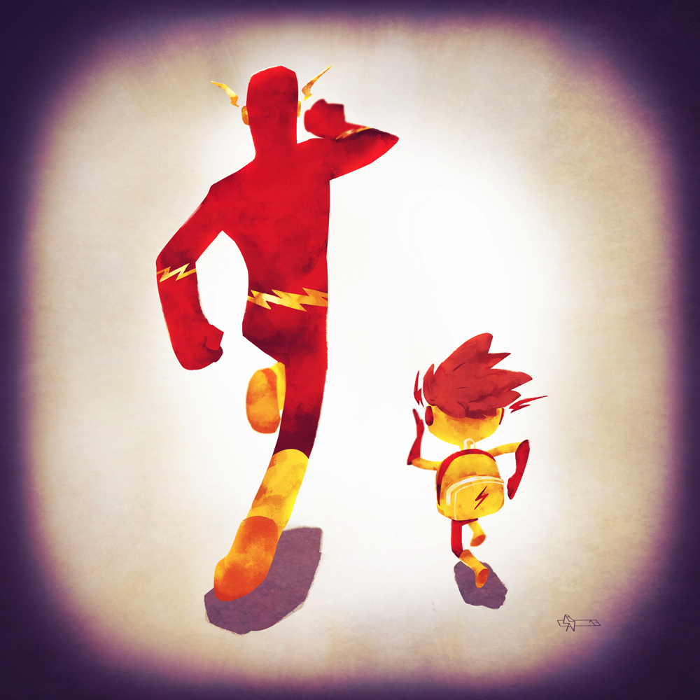 Flash and his son