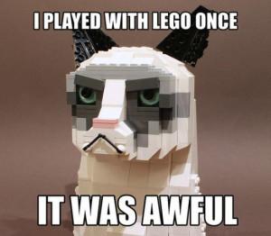 Grumpy Cat in LEGO form