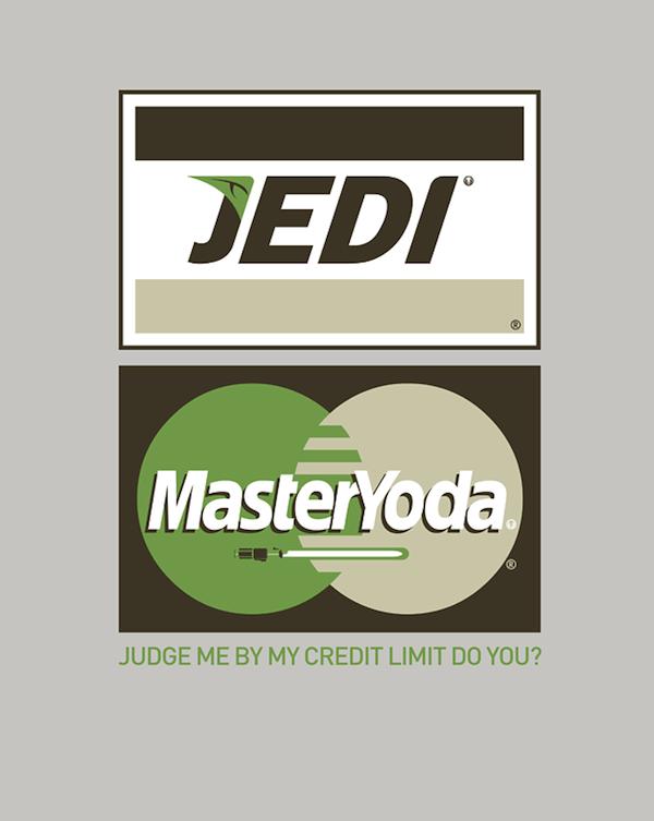 Jedi Yoda Mastercard Visa mashup