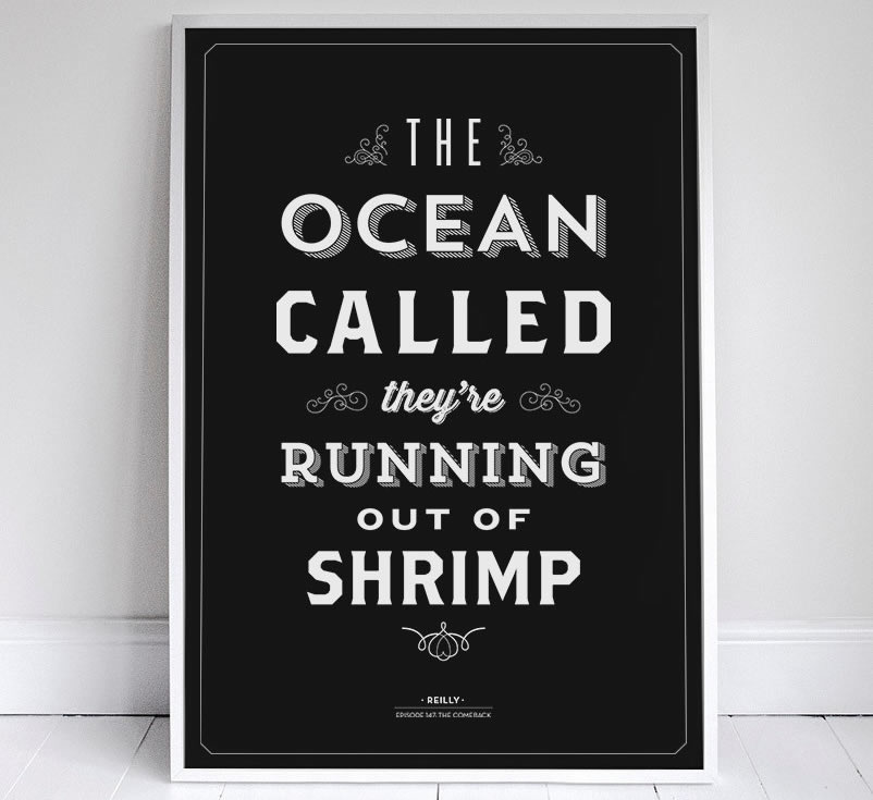 The Ocean Called, It's running out of shrimp