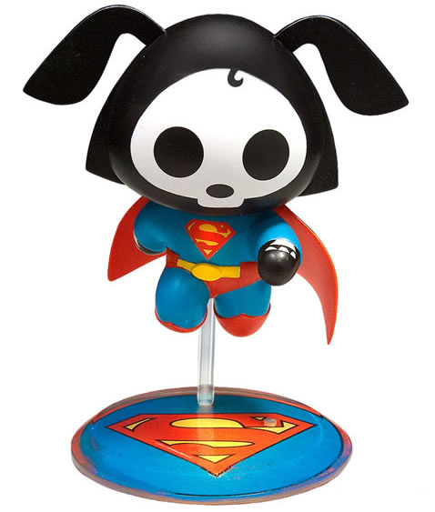 Skelanimals DC SuperHeroes Dax the Dog as Superman