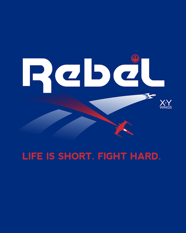 Rebel Reebok mashup: Light is Short . Fight Hard