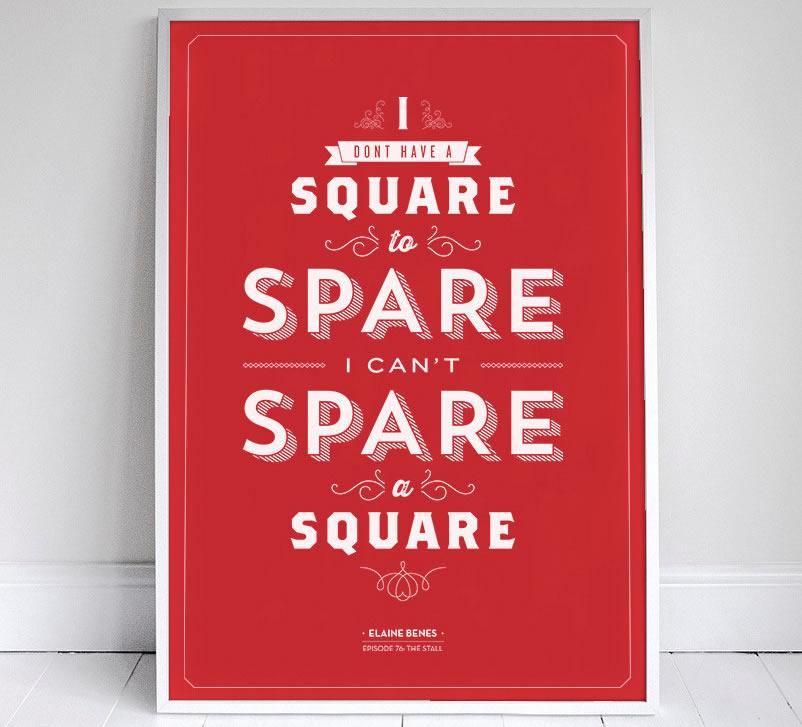 I don't have a Square to Spare. I can't spare a square.