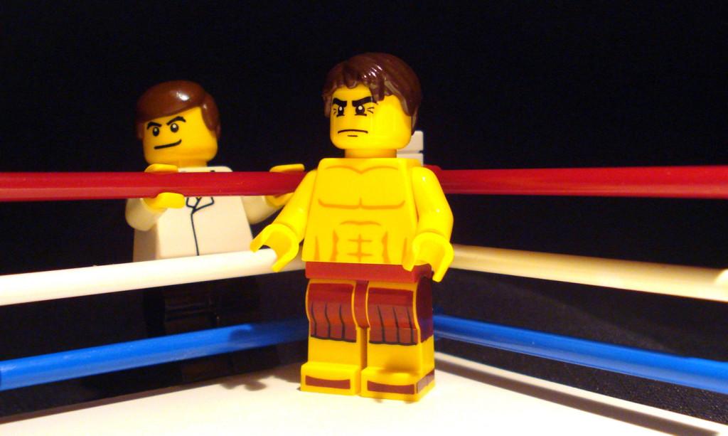 The Fighter ring scene