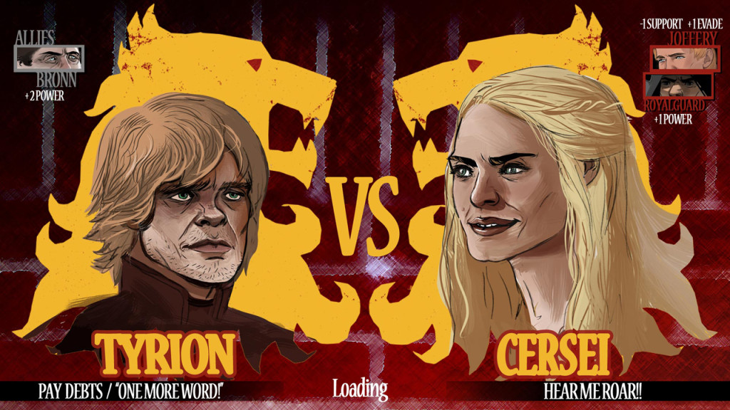Game of Thrones Tyrion Lannister vs Cersei Baratheon