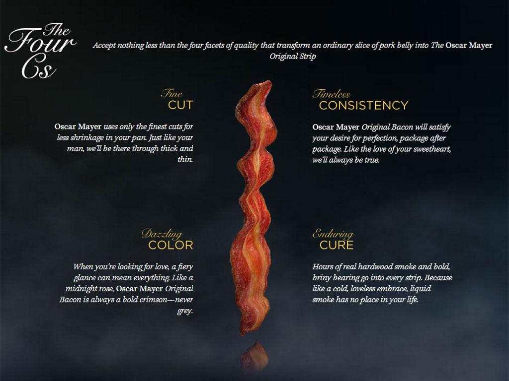 The 4 Cs of Oscar Mayer Bacon