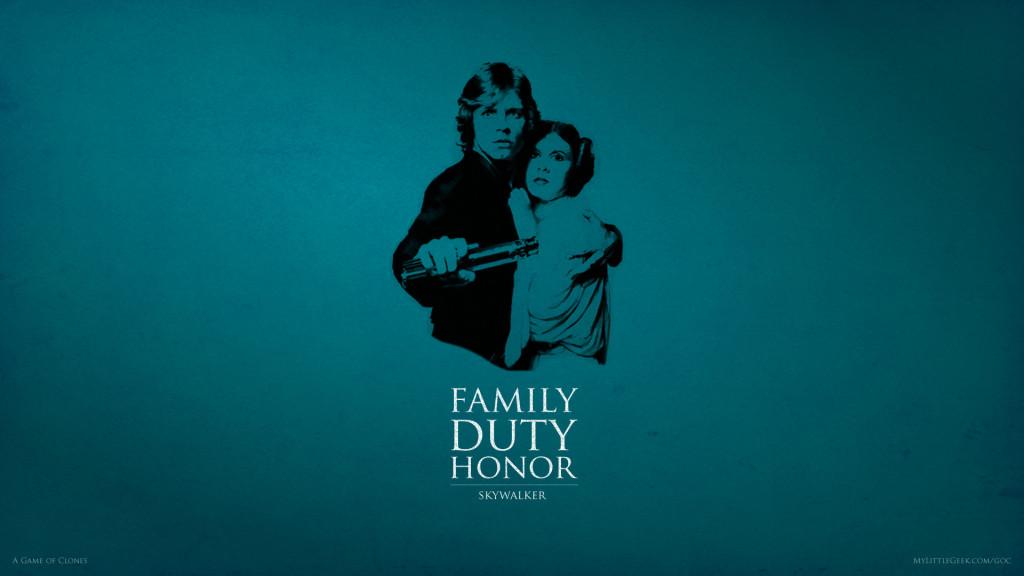 Family, Duty, Honor: Luke & Leia Skywalker