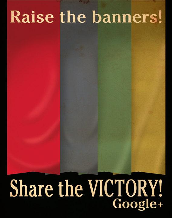 Shae the victory Google+ Propaganda