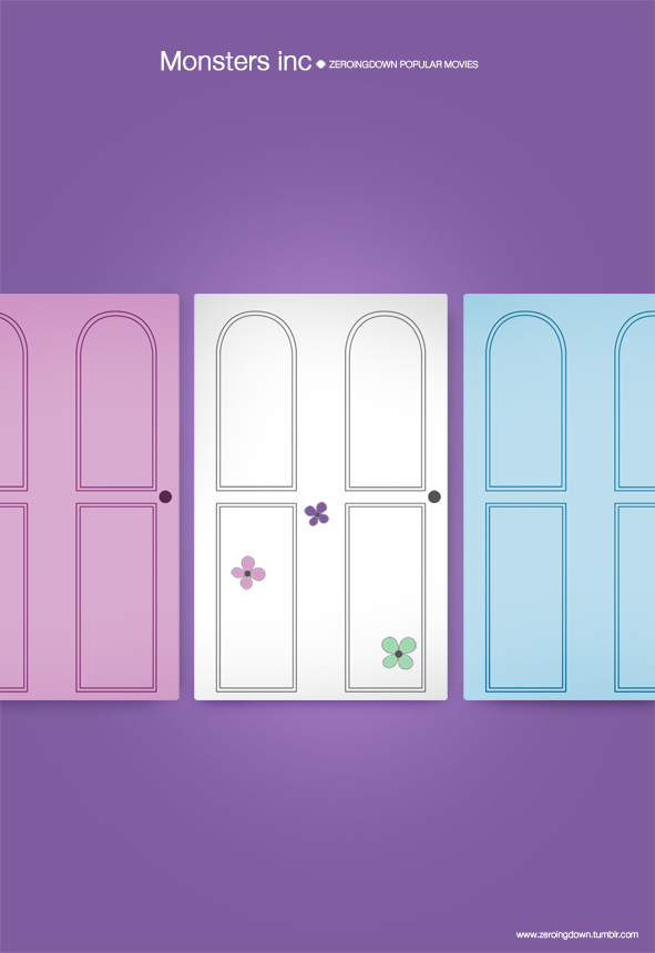 Lineup of kids bedroom doors