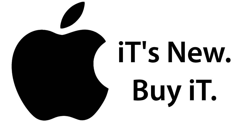 Apple, It's new Buy it.